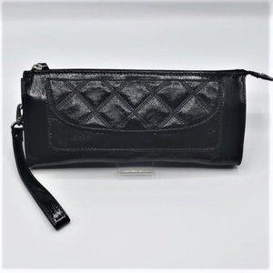 Talbots Classic Black Patent Leather Clutch